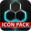 GLOW Turquoise icon pack HD 3D icon