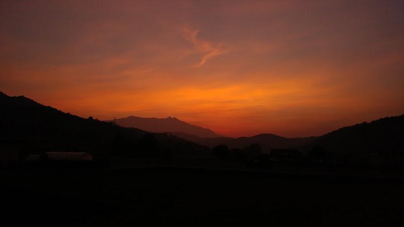 Silhouette del Monte Bisalta al tramonto di Alcman128