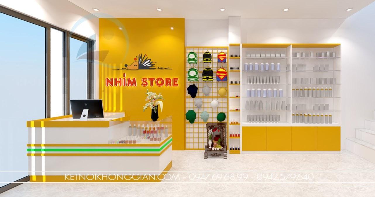 thiết kế shop mẹ và bé nhím store 4