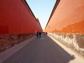 Photo: Still in the Forbidden City.  This is the ancient version of the back corridors of Disneyland.