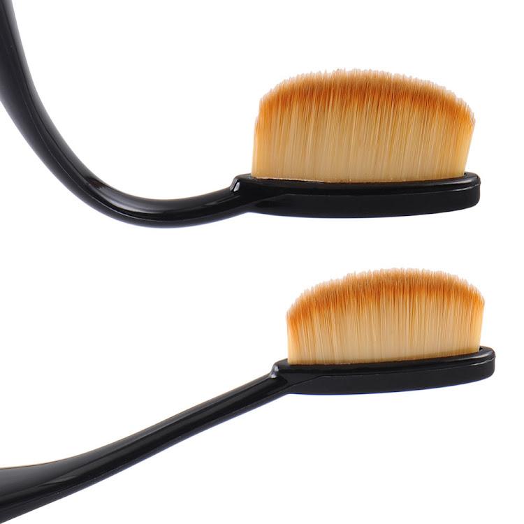 10 Pcs Toothbrush Shaped Oval Makeup Brushes Mermaid brush Eyeshadow Brush Set (With box)