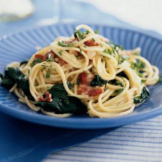 Pasta Carbonara Florentine