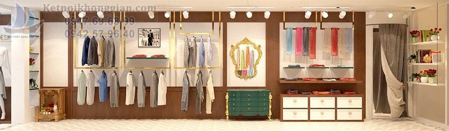 thiết kế cửa hàng thời trang khéo léo tuyệt vời