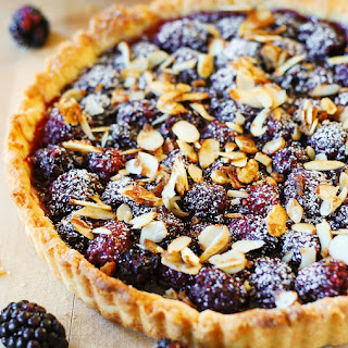 Blackberry Tart with Toasted Almonds.