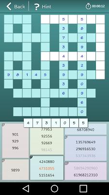 Astraware Number Cross - screenshot