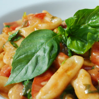 Cavatelli in a Cherry Tomato and Pancetta Sauce