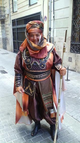 Representación del Duc en la Entrada Mora y Cristiana