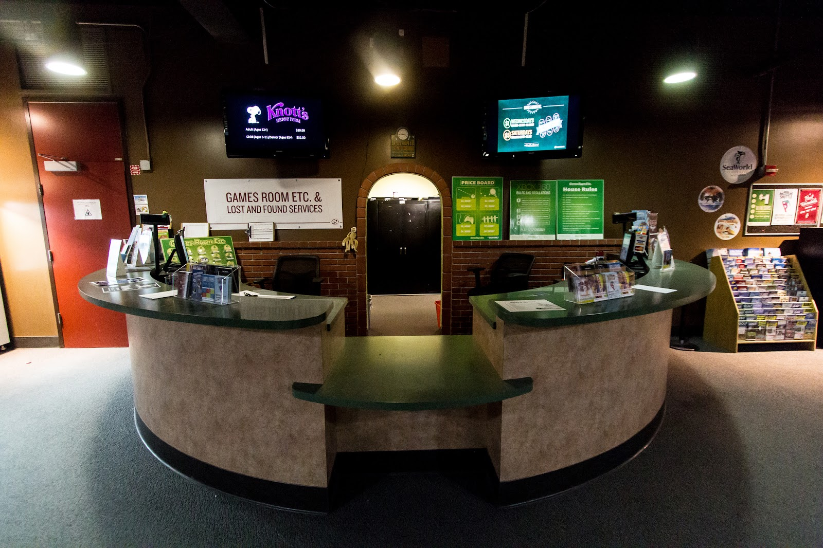 ASU Game's Room front desk