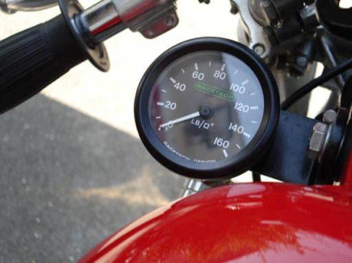 Triumph Dragster créé dans les ateliers de Machines et Moteurs, spécialiste de la reproduction de motos anglaises