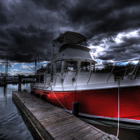 Red Storm by John Larson - Transportation Boats ( , water, device, transportation )