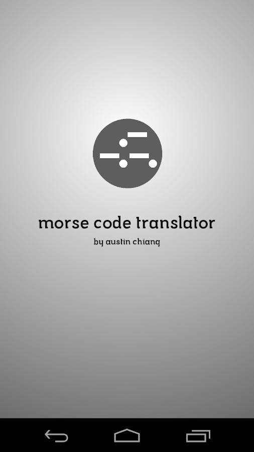 how to translate morse code