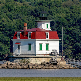 Esopus Meadows Lighthouse by Debbie Quick - Buildings & Architecture Other Exteriors ( debbie quick, lighthouse, espous meadows lighthouse, hudson river, exterior, debs creative images, hudson valley, building, architecture )