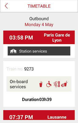 TGV Lyria : trains & schedules - screenshot