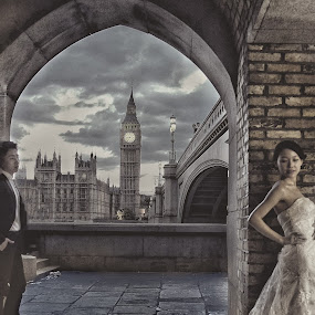 London by Patrick Langley - Wedding Bride & Groom ( london )