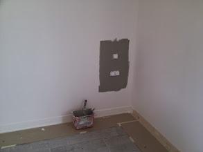 Photo: slaapkamer 2 krijgt groene muur