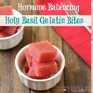 Hormone Balancing Strawberry Tulsi Gelatin Bites.