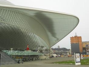 Photo: het spectaculair station van luik