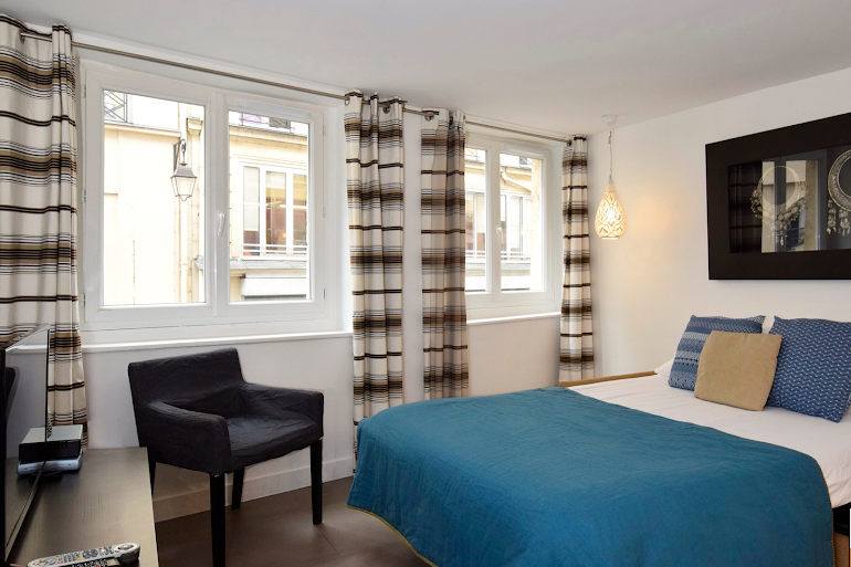 Luxury bedroom at Marais & Palais Royal Serviced Apartment, Opera