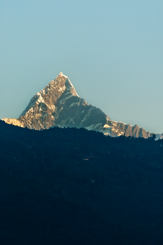 Photo: Mt. Fishtail (Machhapuchhre), seen from Pokhara, Nepal.