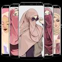 Hijab muslima Wallpapers cartoon icon