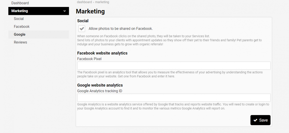 Social Marketing and Facebook and Google Analytics