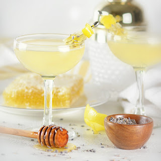 Lavender Bee's Knees Cocktail.