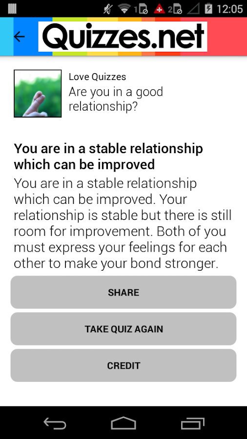 Quizzes - Love & Personality- screenshot