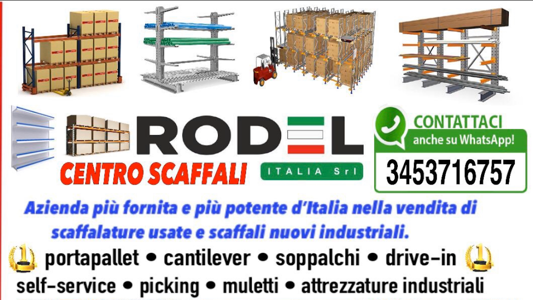 Scaffalature In Ferro Usate.Centro Scaffali Rodel Italia Srl Scaffalature Metalliche Usate