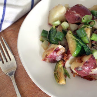 German-Style Potato Salad with Brussels Sprouts