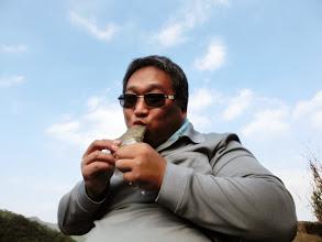 Photo: 我也吃起在山下買的草仔粿