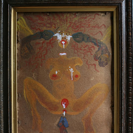 Dakini II by To Mi - Painting All Painting ( oil, painting, erotic, mickonis, dakini, nude )