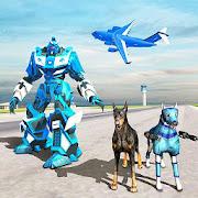 US Police Robot Dog - Police Plane Transport Game