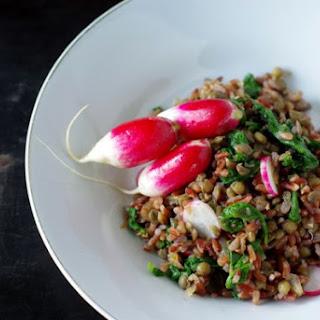 Red Rice And Radish Greens