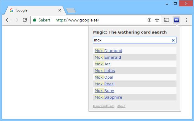 Magic: The Gathering card search