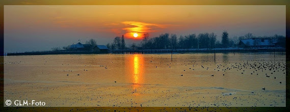 Photo: Sonnenuntergang in Seebruck.