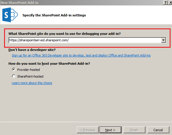 SharePoint Provided Hosted App