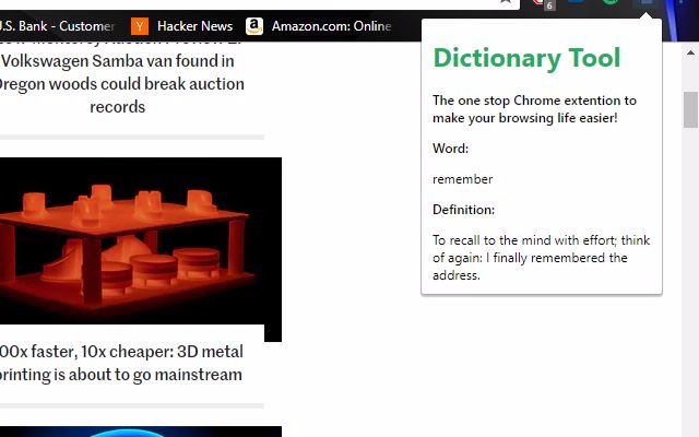 Dictionary Tool