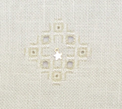 Photo: Completed 21 Mar 2010. Stitching Friends Retreat 2010 Hardanger from Round Robin class.