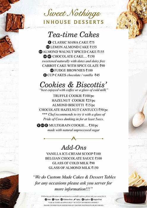 August Cafe menu 5