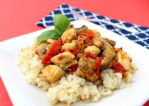 """Chicken with Sun-Dried Tomatoes""""This our kind of easy weeknight dinner recipe. The..."""