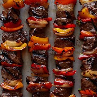 Grilled Beef Kebabs.