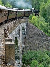 Photo: Norwegian Railway Club historic train on the Rauma line, crossing the spectacular Kylling bridge