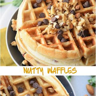 Simple Nutty Homemade Waffles Recipe