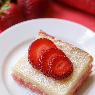 Strawberry Gooey Butter Cake.