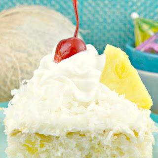 Pina Colada Sheet Cake.