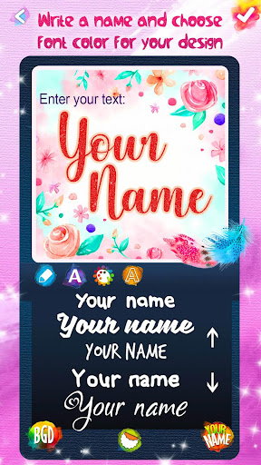 Name Art Maker ?️ Write Text on Background 1.8 screenshots 4