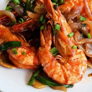 King Prawns with Ginger and Spring Onions 姜葱大虾.