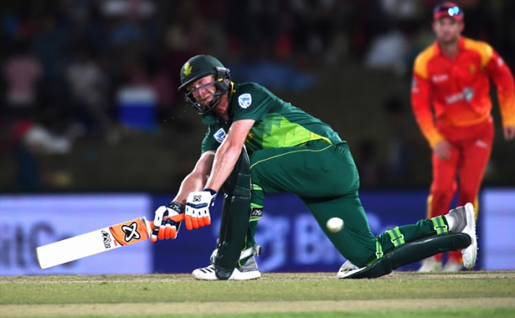 Heinrich Klaasen of South Africa during the 3rd Momentum ODI match between South Africa and Zimbabwe at Eurolux Boland Park on October 06, 2018 in Paarl, South Africa.