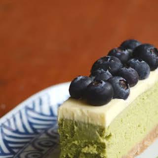Green Tea And White Chocolate Cheesecake.