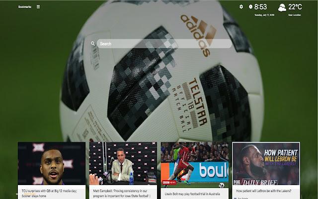 Sport Tab - New Tab with News